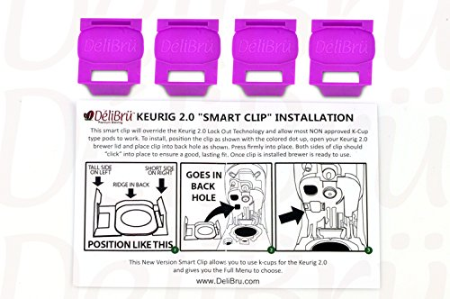 4Pack Freedom Clip - Delibru Smart Clip Brews Any Brand K-Cup Coffee Pods in Keurig 2.0 Coffee Maker k-cup Keurig - Brands F With That Start