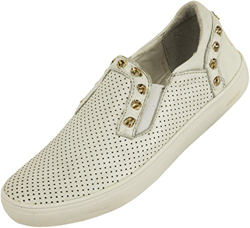 Guess Ladies Slipper Slipper Cuir Blanc Blanc KZZJj