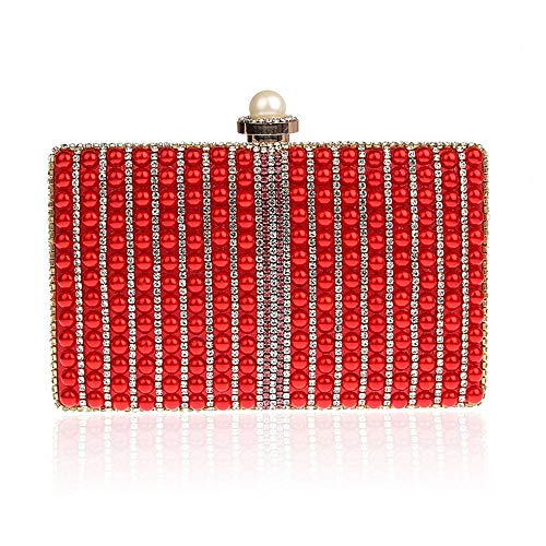 Bag Rabbit Clutch Pearl Red Meeting Banquet Hand Clutches Lovely Bag Venetian Evening Annual Fashion RzTFdWF