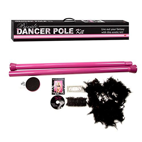 LTC Portable Dance Pole Full Kit Package Fitness Exercise Club Party Bag with Instructional DVD, Pink by LTC