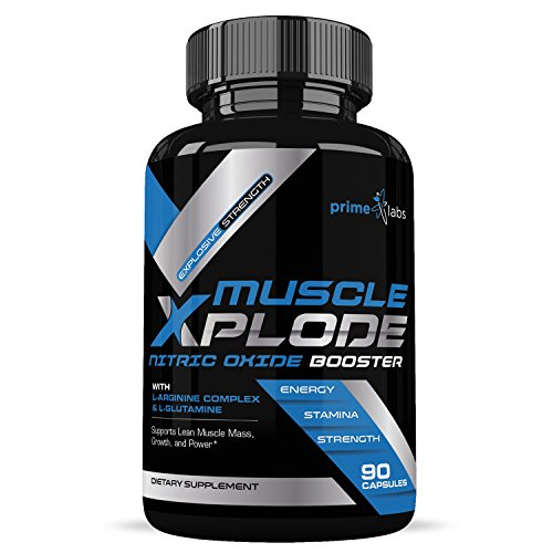 Muscle Xplode Nitric Oxide Booster Formula for Intra and Pre Workout with L Arginine to Enhance Endurance, Strength and Energy, Powerful Muscle Pumps 120 Capsules
