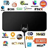 TVFix HD Digital TV Antenna with Detachable Signal Amplifier 30 Miles Range Support 1080P for Indoor