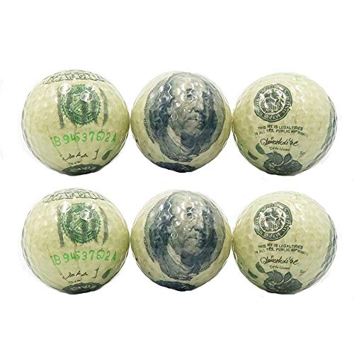 - Durable Gift Double-Layer Golf Banknote Printing Pattern Golf Color Transparent Crystal Ball for Snow Stadium Wen Personality Golf Balls Convenient (Color : C1, Size : Diameter 42.6mm)