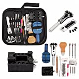 144-Piece Practical Watch Repair Tool Kit Set Watch Strap Remover Device Back Cover Opener with Bag Case
