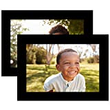 Americanflat 2 Pack - 4x6 Tabletop Frames - Display Pictures 4x6 - Glass Fronts - Easel Stands - Ready to Display on Desktop
