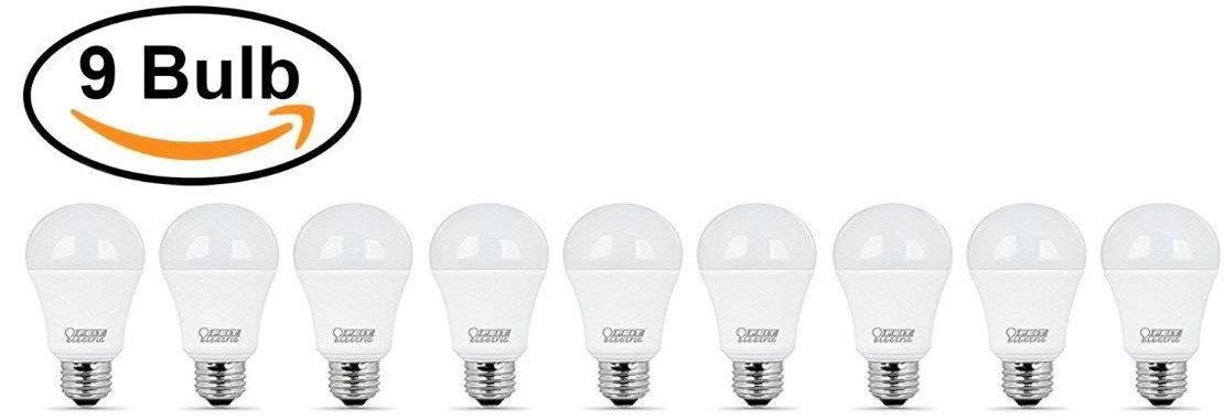 800 Lumens Natural Day Light 5000K FEIT 9w LED Light Bulbs 10 Pack Feit Electric CEA800//5K//LED//10 60w Equivalent
