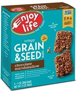 Enjoy Life Foods Crispy Grain Seed Bars Chocolate Marshmallow 5 Bars 1 oz 28 g Each