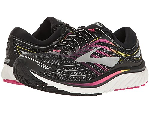 36db3013daa79 Galleon - Brooks Women s Glycerin 15 Black Pink Peacock Plum Caspia 6.5 B US  B (M)