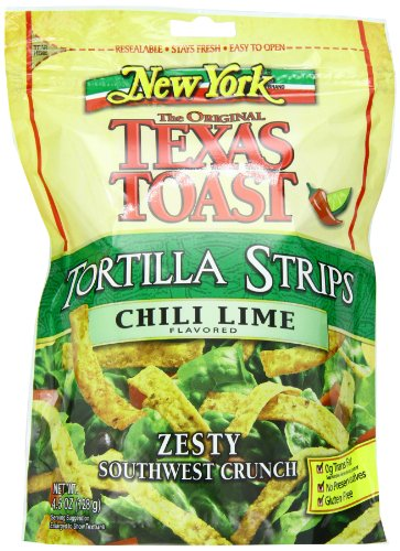 - New York Texas Toast Tortilla Strips Chili Lime, 4.5-Ounce Bags (Pack of 8)
