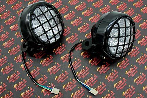 Banshee Light - 2 X New Headlights Lens Bulbs Lights Grills Warrior