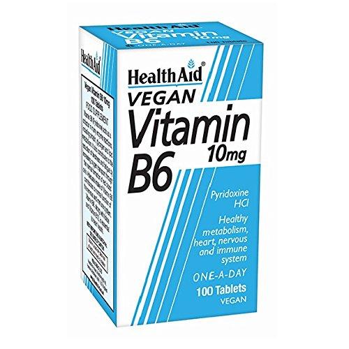 Health Aid Vitamin B6 (Pyridoxine HCl) 10mg 100 Tablets