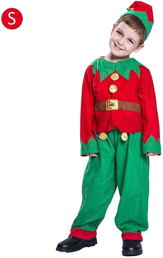 Disfraz de Navidad para niños, elfo de fiesta de disfraces ...