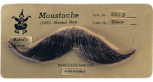Rubies Handlebar Human Hair Moustache