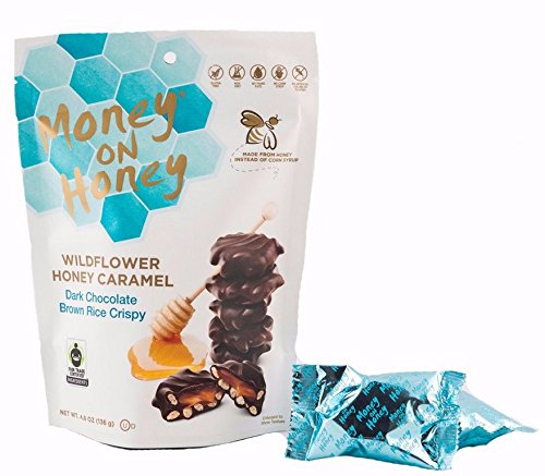 MONEY ON HONEY, DRK CHOC, BRWN RICE CRISPY, Pack of 6, Size 4.8 OZ - No Artificial Ingredients Gluten Free Fair Trade Item Contains Refined Sugar Low Sodium Yeast Free