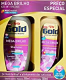Kit Shampoo e Condicionador 300Ml Mega Brilho Unit, Niely Gold