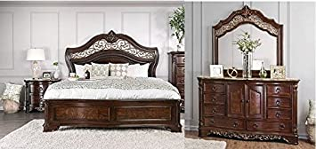 Amazon.com: Menodora Bedroom Furniture Traditional Look ...