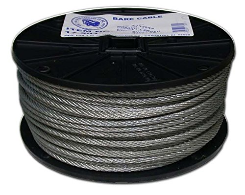 Evans Cordage Co. 1//4-Inch x 250-Feet T.W T.W Evans Cordage 17-401 Bare Cable