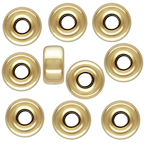 5mm 1/20 14 Karat Gold Filled Smooth Roundelle Bead, 10 Pieces