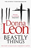 Front cover for the book Beastly Things by Donna Leon