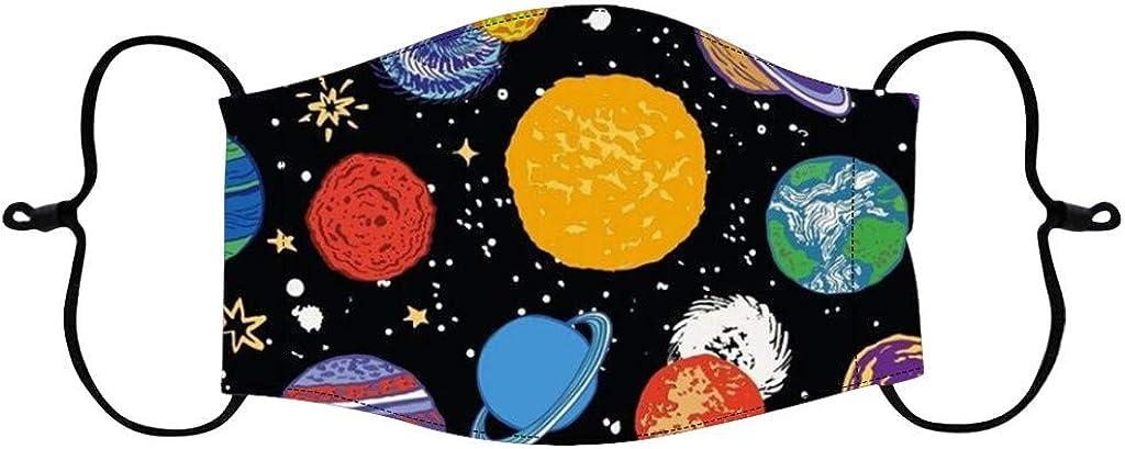 RUIRUILICO Bufanda Multifuncional Para Ni/ños Bufanda 3d Impresi/ón De Dibujos Animados Mascarillas De Pa/ñuelo Lavable Algod/ón Transpirable Universo Motivo Del Planeta Bufanda Bufanda Ni/ños Ni/ñas