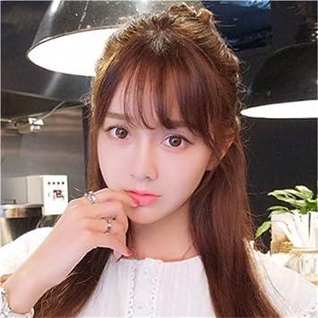 Amazon Korean Bangs Wig Piece Seamless Real Hair Bangs False