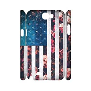 Customised 3D Samsung Galaxy Note 2 N7100 Case, Usa Vintage Flags quote personalised Phone Case
