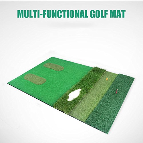 PGM Mutil-functional Golf Practice Mat Driving Range Golf Hitting Mat----3.3ftX4.92ft by PGM (Image #1)