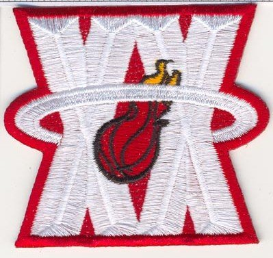 Miami Heat 20th Anniversary 'XX' Logo Jersey Patch (2007-08) 20th Anniversary Patch