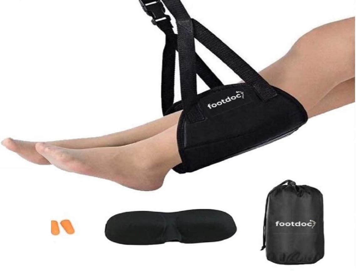 Feet Hammock Under Desk, Home Office Work,Travel Foot Rest, Foot Hammock Airplane Travel Accessories, Airplane Footrest, Travel Gadget