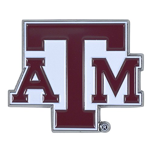 Colored Truck - Texas A&M University Aggie Team Colored Premium Metal Car Truck Motorcycle Officially Licensed NCAA Emblem Practically Sticks to Anything