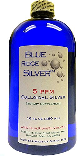 BLUE RIDGE SILVER 5 ppm 16 oz Colloidal Silver