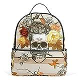 yzgo Fashion mochila clásico Vogue Bolsa de lona para Escuela de calavera Unisex Pequeño computadora portátil mochila al aire última intervensión mochila de viaje