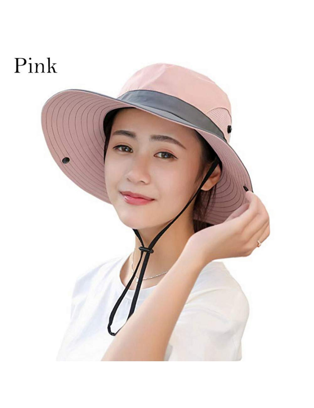 Pink PDHP Sunshade Hat Unisex Summer Sun Hats For Women Breathable Sunhat Outdoor Uv Predection Top Bucket Hats Fishing