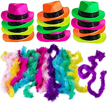 Crown Measures 7 x 8 Inches Spooky Town Dress Up Halloween Costume Hot Pink Plastic Fedora Gangster Hat One Size Fits Most