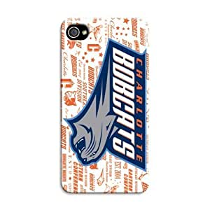 Fashion Popular Nba Charlotte Bobcats Team Logo Durable Hard Case For Iphone 4/4S Cover Case