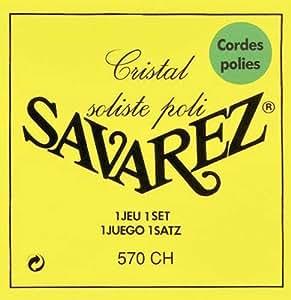 Savarez 570 ch Cristal y juego de cuerdas para guitarra clásica Soliste pulido