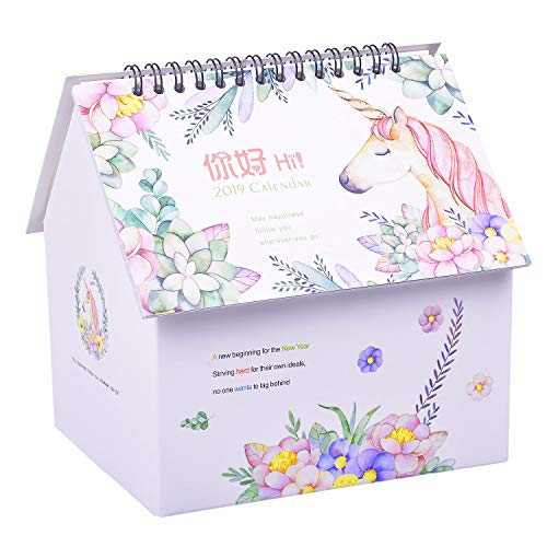 - Rancco Desk Calendar Desktop Organizer to-Do List Pad 3 in 1, Colorful Painting Flip Monthly Calendar Pen Pencil Holder Cosmetic Storage Desk Caddy Organizer w/Memo Notepad for Office Supplies, Home