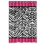 Pink Zebra Print Shower Curtain 48