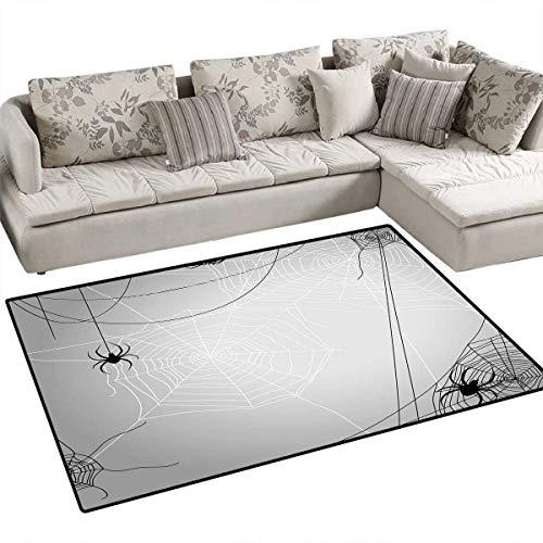 Spider Web Customize Door mats for Home Mat Spiders Hanging from Webs Halloween Inspired Design Dangerous Cartoon Icon Door Mat Outside 36