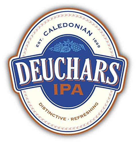 Scottish Beer (Deuchars Scottish Brewery Beer Drink Car Bumper Sticker Decal 4