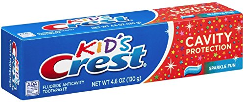 (Crest Toothpaste Kids' Cavity Protection, Sparkle Fun Flavor 4.60 oz (Pack of 4))