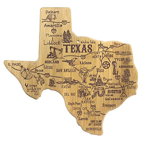 Totally Bamboo Texas State Destination Bamboo Serving and Cutting Board (Board Star Cutting)