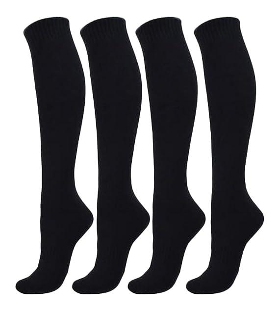 Palleon - Calcetines hasta la rodilla - para hombre negro negro