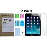 iPad Mini 4 Tempered Glass Screen Protector [ 2 Pack ] AiTron High Definition/Anti-Oil/2.5D Rounded Edges/9H Hardness/Scratch Proof (Not Compatible with iPad Mini 1/2/3)