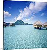 Johanna Huber Premium Thick-Wrap Canvas Wall Art Print entitled French Polynesia, Bora Bora Pearl Beach Resort and Spa