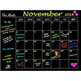 "DoSensePro Monthly Calendar Chalkboard Planner Organizer, Wall Decal Contact Paper - 18"" x 23"". Perfect for Restaurant, Office, Home, Kitchen, Dorm Rooms - Get Yours Now"