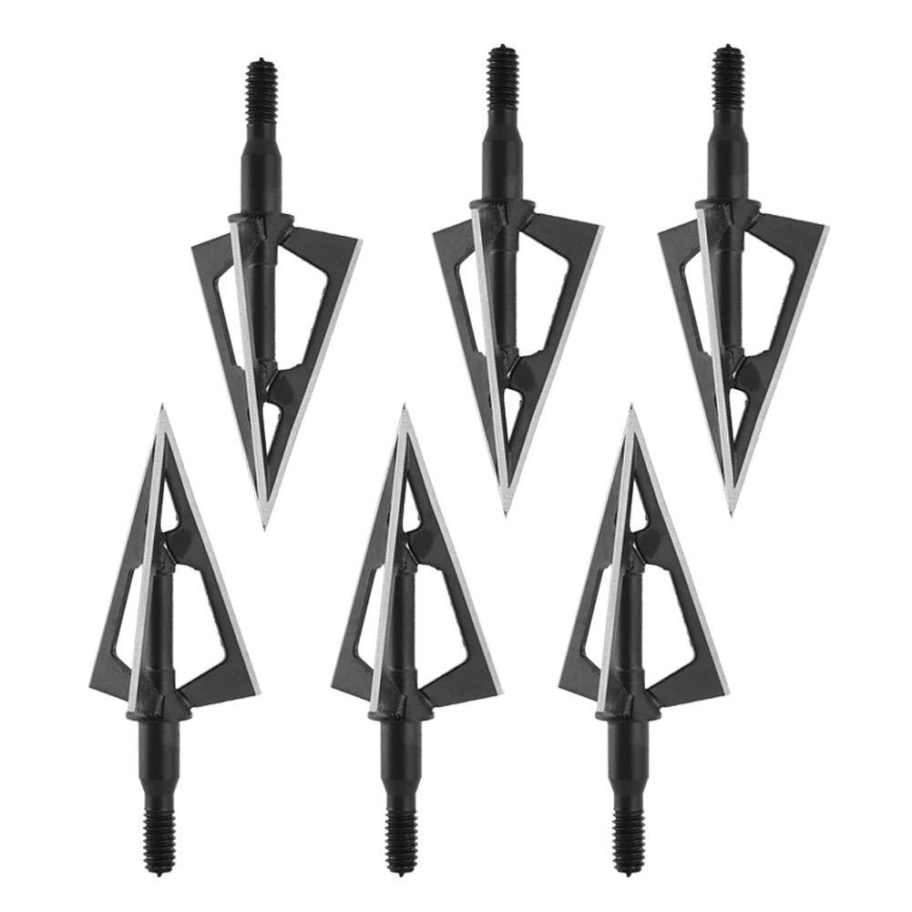 Alomejor Bogenschie/ßen Pfeilspitzen 3 Sharp Fixed Broadheads Jagdpfeile f/ür Armbrust und Compoundbogenpfeile
