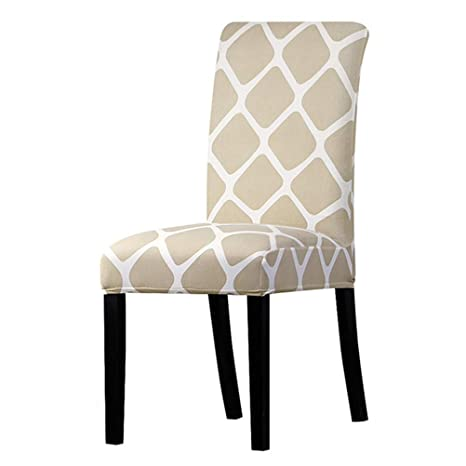 Amazon.com: YUSASIKU Dinning Chair Slipcovers, 4PCS Stretch ...