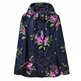 Joules Coastprint Waterproof Jacket, Marine Navy Artichoke Floral, UK 12, EU 40, US 8