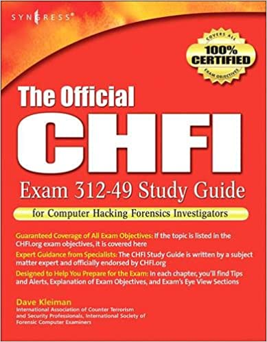 the official chfi study guide exam 312 49 for computer hacking